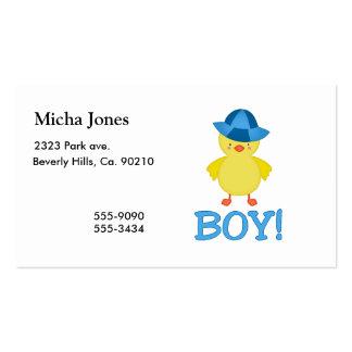 É um chapéu do azul de Duckie do bebé Cartão De Visita