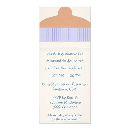 É um convite do chá de fraldas da garrafa de bebê