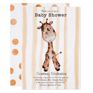 É um convite do chá de fraldas do girafa