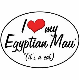 É um gato Eu amo meu Mau egípcio Esculturafotos