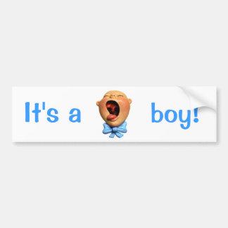 É um menino! adesivo para carro