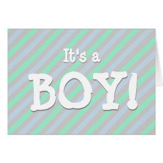 É um menino! Anúncio do nascimento