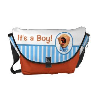 É um menino! bolsas mensageiro