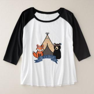É um menino, camisa de maternidade da floresta