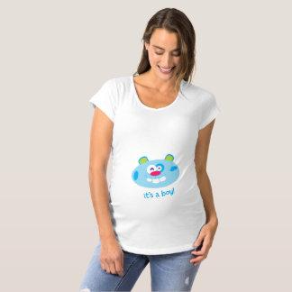 É um menino! Camisa de maternidade de T