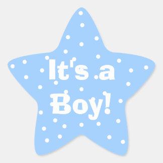 É um menino! Etiqueta