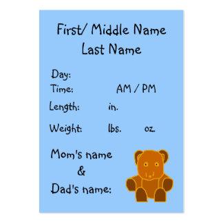 É um menino! - modelo do anúncio do nascimento cartão de visita grande