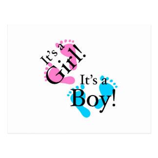 É um menino que é uma menina - bebê recém-nascido cartao postal