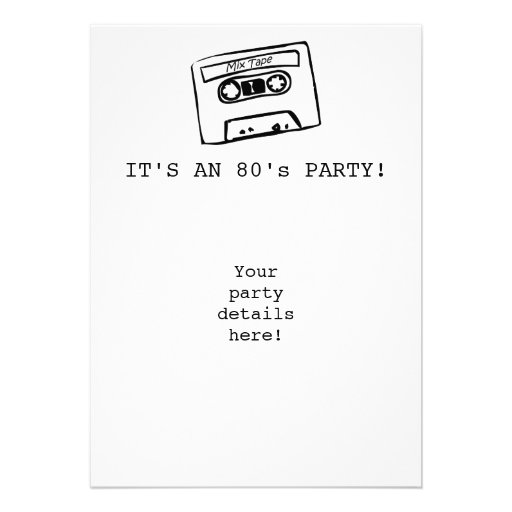 É UM PARTIDO do anos 80! Convites