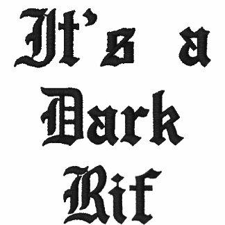 É um Rif escuro Camiseta Bordada Polo