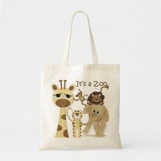 É um saco do jardim zoológico bolsa tote
