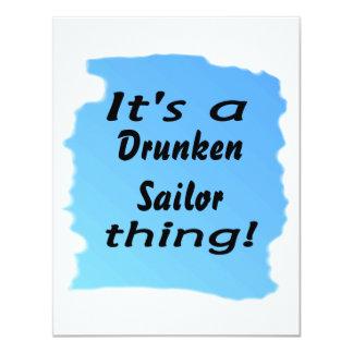 É uma coisa bêbedo do marinheiro! convite 10.79 x 13.97cm