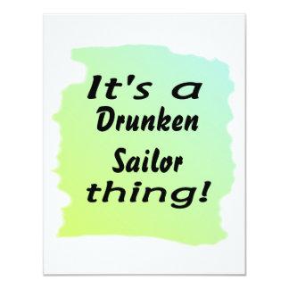 É uma coisa bêbedo do marinheiro! convites personalizados