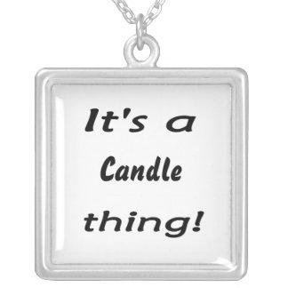 É uma coisa da vela! colar banhado a prata