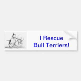 É uma coisa de bull terrier! adesivo para carro