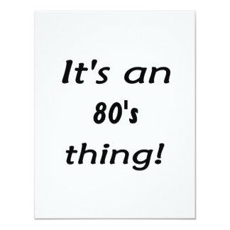 É uma coisa do anos 80! Os anos 80 oitenta Convites Personalizados