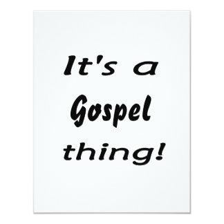 É uma coisa do evangelho! convite 10.79 x 13.97cm