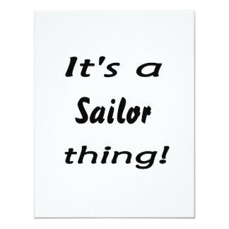 É uma coisa do marinheiro! convites personalizado