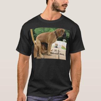 É uma coisa do Mastiff! Camiseta de cão inglesa do
