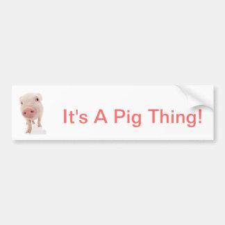 É uma coisa do porco adesivo para carro