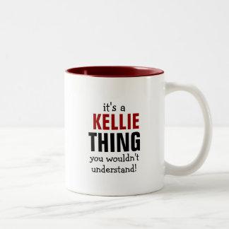 É uma coisa que de Kellie você não compreenderia Caneca De Café Em Dois Tons