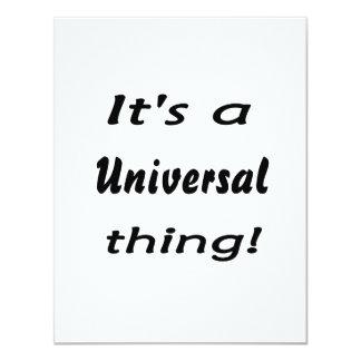 É uma coisa universal! convite personalizados