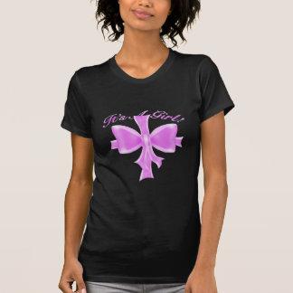 É uma menina! Fita e arco do cetim T-shirt