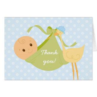 É uns cartões de agradecimentos do menino