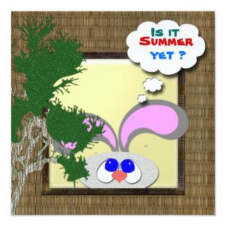 É verão ainda? convite quadrado 13.35 x 13.35cm