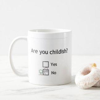 É você criançola? Caneca