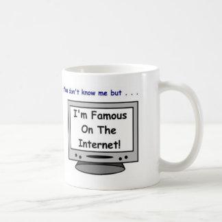 É você famoso no Internet? Caneca De Café