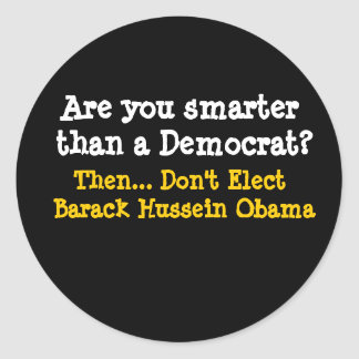 É você mais esperto do que uma Democrata? , Então… Adesivos Em Formato Redondos