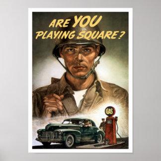 É você que joga o quadrado -- Segunda guerra mundi Poster