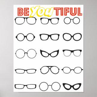 É você Tiful - bonito você poster - hipster