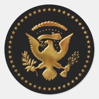 Eagle aterrou… adesivo redondo