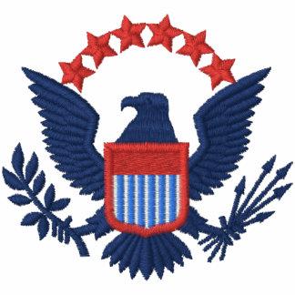 Eagle azul camiseta bordada polo
