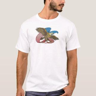 Eagle bordou camisetas