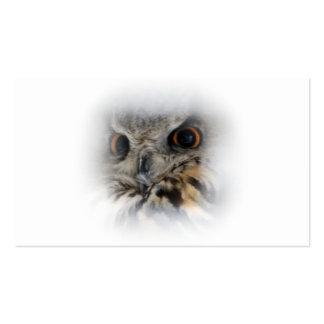 Eagle-coruja euro-asiática cartão de visita