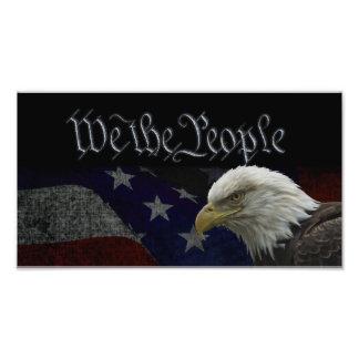 Eagle patriótico & bandeira foto artes