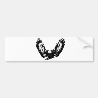 Eagle preto & branco adesivo para carro