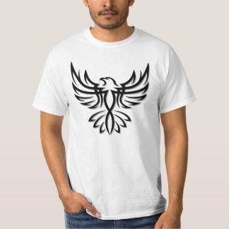 Eagle preto/falcão 1 camiseta