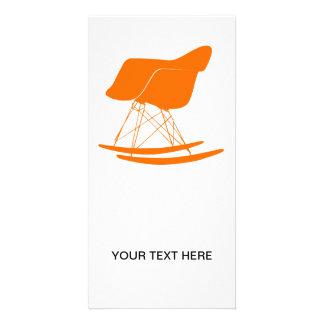 Eames moldou a cadeira de balanço plástica cartao com fotos