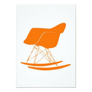 Eames moldou a cadeira de balanço plástica convite 12.7 x 17.78cm