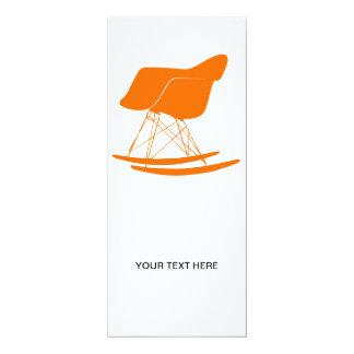 Eames moldou a cadeira de balanço plástica convite 10.16 x 23.49cm