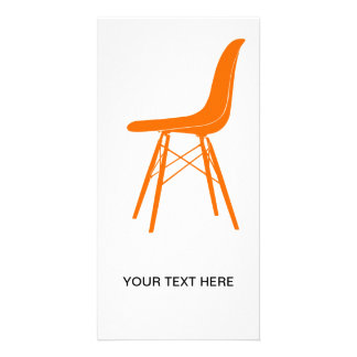 Eames moldou a cadeira lateral plástica cartao com foto personalizado