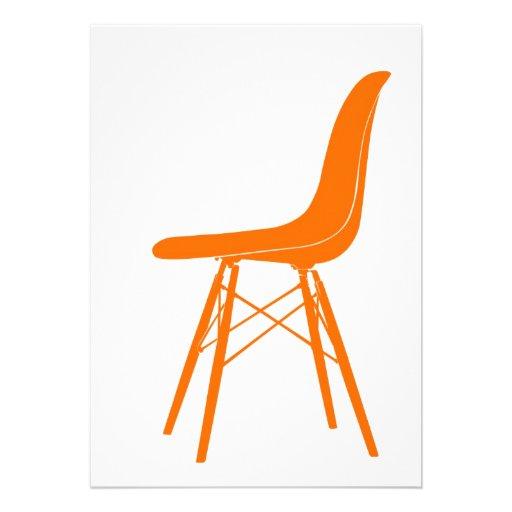Eames moldou a cadeira lateral plástica convites personalizado
