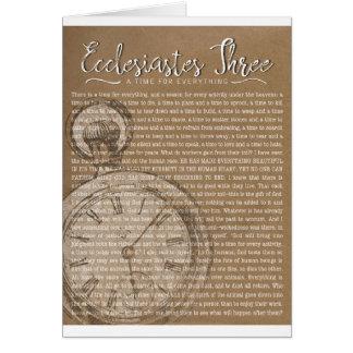 Ecclesiastes três, incentivo religioso cartão comemorativo