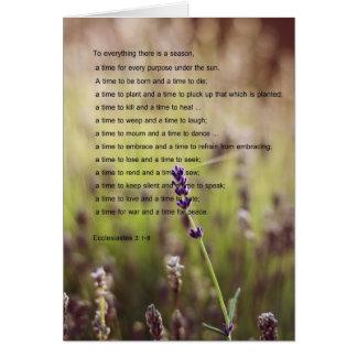 Ecclesiastes Verses o cartão