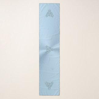 Echarpe Azul de gelo phoenix estilizado com efeito gravado