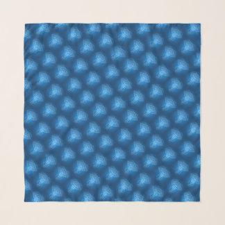 Echarpe Azulejos azuis do teste padrão do elefante dois